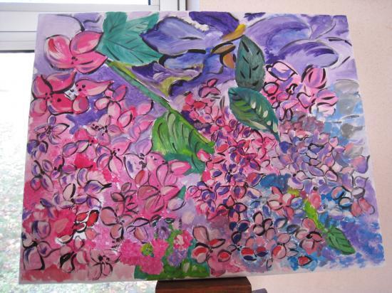 Fleurs des prés.   ( 50 x 40 )