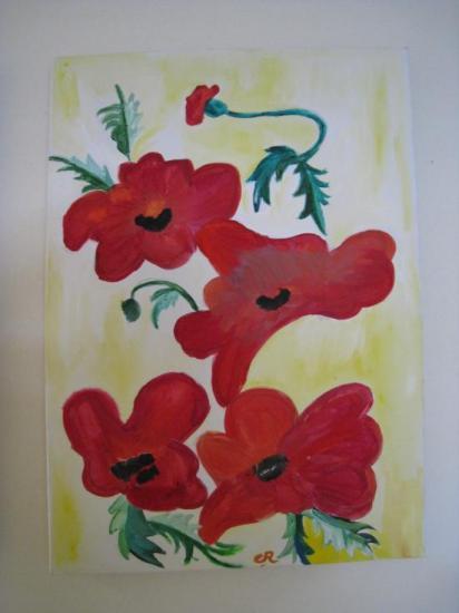 Fleurs des champs.   ( 70 x 50   )
