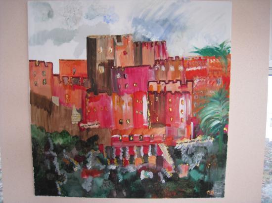 Oasis marocaine  ( 100 x 100 )