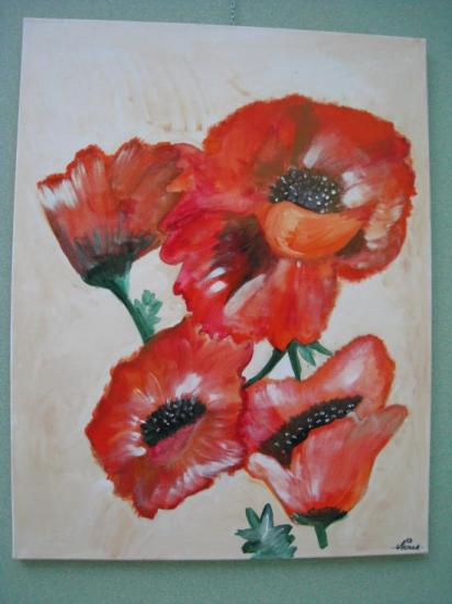 Rouge coquelicots.   ( 90 x 70 )