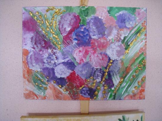 Bouquet de primptemps.   ( 40 x 30 )