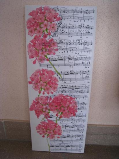 Musique de fleurs.   ( 50 x 20 )